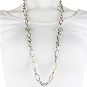 David Yurman Prasiolite Figaro Station Necklace
